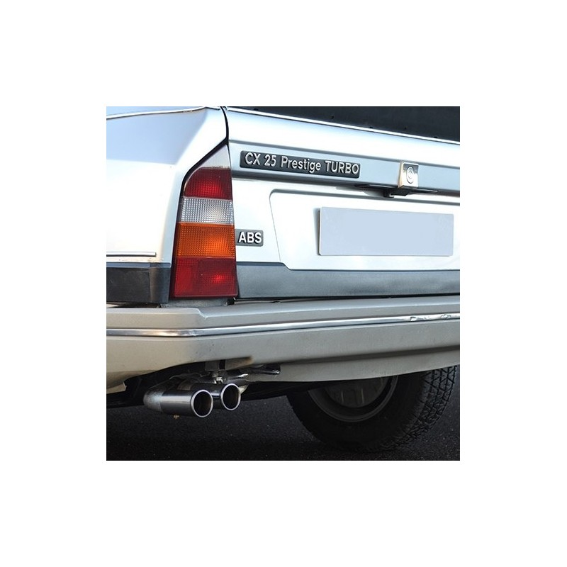 Citroën CX Turbo stainless steel exhaust line